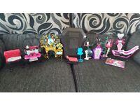 5 Monster High Doll Playset Bundle