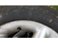 165/65 R14 Part Worn Tyres & Wheel