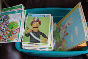 over 40 kids tray puzzles