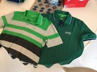 2 Hugo Boss men's polo shirts in medium