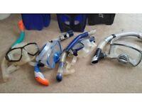 Snorkelling Equipment - fins, masks and snorkels