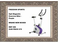 Opti Magnetic Exercise Bike - Purple brand new boxed