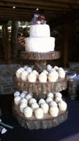 Wood, Log, cookies, cut rounds, Rustic wedding, barn, slab, disk