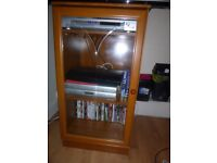 Vintage Brown Glass TV Cabinet, USED in great conditions -ti be collected from Crystal Palace Area