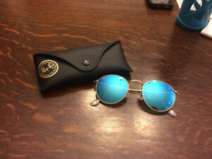 Ray Ban (round metal sunglasses - blue gradient)
