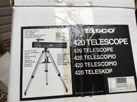 TASCO LUMINOVA TELESCOPE Model: # 40-076420H, unused in box.