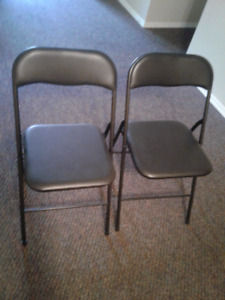 Black folding chairs both for  $10- moving sale