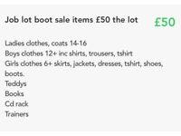 Job lot boot sale items
