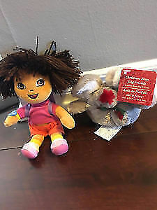 Dora plush toy and Mouse toy