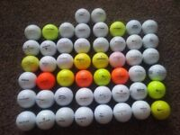 50 Golf balls various colours and makes