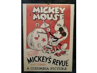 Mickey Mouse poster of 1932 movie 'Mickey's Revue'