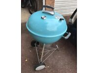 Weber mastertouch BBQ in blue with cover
