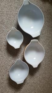 set of 4 Vintage Cinderella Woodland Pyrex bowls