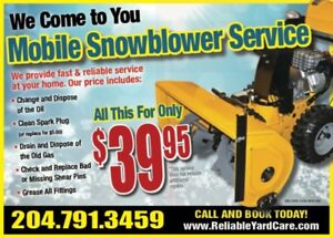 MOBILE Snowblower Tune-Up $39.95