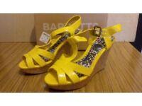 Ladies funky yellow platform shoes