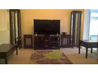 Living Room Furniture Set ~ 2 Lamp Tables, 2 Display Cabinets, TV Unit, Coffee Table & Side Table