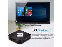 Windows 10 mini PC TV Box Quad Core Intel Atom Z8300 RAM 4GB ROM 32GB 64bit