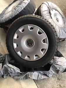 195/65/15 Winter tire set for a VW. New- never used