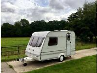 COMPASS LYNX 340/2 CARAVAN - 2 BERTH – FULL AWNING INCLUDED - IN IMACULATE CONDITION