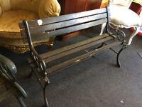 Cast iron wood garden bench