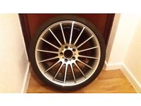BRAND NEW 19 INCH ALLOY WHEELS WITH SECOND HAND TYRES