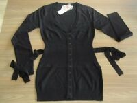 BACK TO SCHOOL OR WORK BLACK BOYFRIEND CARDIGAN WITH TIERS SIZES 10 AND 12 AVAILABLE
