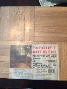 Parquet flooring new in package