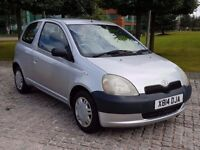 2001 TOYOTA YARIS(JAPAN) 1.0 PETROL, MANUAL, 3 DOOR, LONG MOT, DRIVES VERY WELL!!!