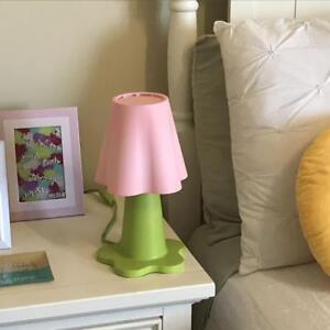 IKEA MAMMUT FLOWER TABLE LAMP PINK AND GREEN VGC