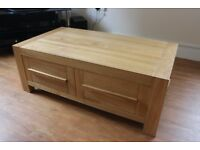Solid Oak Coffee Table & Drawers