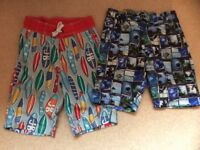 Boys swimming shorts x2 age 9-10 years