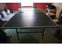 Table Tennis table - Butterfly. Table measures 9ft x 5ft