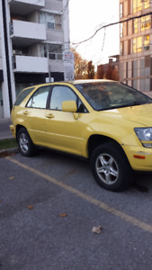 2002 Lexus RX  300 yellow Black leather  interior SUV, Crossover
