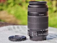 Canon 55-250mm IS MKII lens, excellent condition