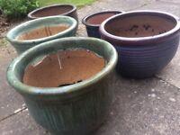 Planter Pots . Various colours and sizes