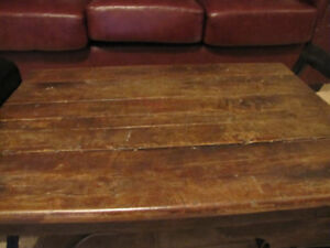 COFFEE TABLE -ANTIQUE WEIGH SCALE  $400.