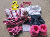 Bundle 10- set of Build a Bear or equivalent bear clothes- £10