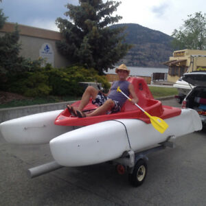 Sail paddle float boat built in Germany