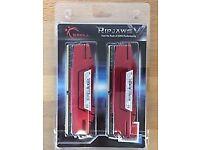 G.SKILL Ripjaws V Series 16GB (2x8GB) 2400MHz DDR4 Memory - Red