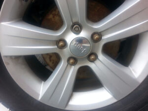 "FOUR 17""/5 BOLT JEEP GRAND CHEROKEE RIMS $300"
