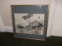 Chinese brush painting by Vera Watts very good condition