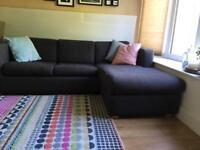 Habitat corner Sofa Bed dark grey