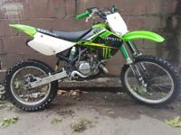 kx 100 dirt bike , kicks first time , rides lovely ,mechanically sound bike ,open to any test