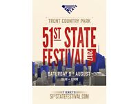 51st State Music Festival (Trent Park)...8 TICKETS AVAILABLE!!...ONLY £50!!!