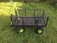 Garden pull along trolley
