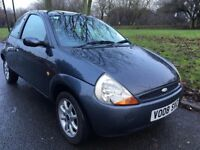 2008 FORD KA ZETEC PETROL. BRILLIANT DRIVE. CENTRAL LOCKING. E/W. E/M. LOW MILEAGE.NEW MOT 2018.