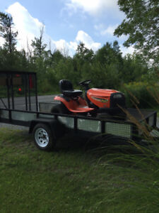 Landscape trailer with HD axle and fresh tires