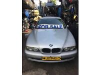 BMW 5 SERIES. 2001 E39 .Breaking for parts in silver Bonnet £150.00