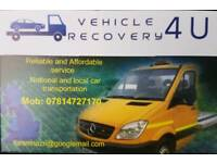 Vehicle recovery and transportation.