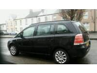 Vauxhall zafira 1.6 petrol taxed and mot in black excellent condition £1900